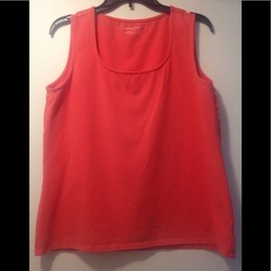 Coldwater Creek tank top - XL - coral color
